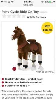 Pony Cycle ride on horse at Wilko for £120
