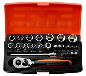 Bahco SL25 Socket Set 25 Piece 1/4 Inch Drive £18.84 (Prime) / £23.59 (non Prime) @ Amazon