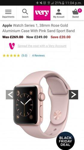 Apple watch Series 1 £252.99 @ Very