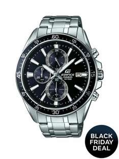Casio Edifice black Multi Dial Stainless Steel Bracelet Mens Watch £80 @ very save £119.99