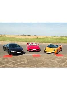 Virgin Experience Triple Supercar Blast, plus high speed passenger ride and photo £71.99 at Very (cheaper than the Virgin Experience website)