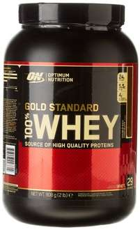 AMAZON - Optimum Nutrition Gold Standard 100% Whey Protein Powder, Double Rich Chocolate - 908 g for £14.99