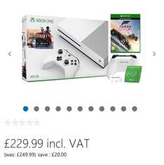 Xbox One S Battlefield 1 Bundle (500GB) with Forza Horizon 3 £229.99 @ Microsoft Store