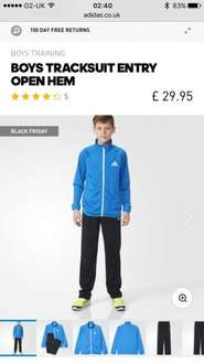 Boys adidas tracksuit £23.96 delivered from Adidas