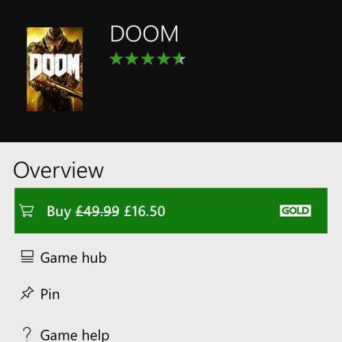 Xbox one - Doom £16.50