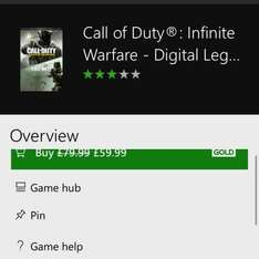 xbox one - call of duty with remaster £59.99