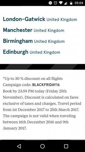 Black Friday Norwegian Airlines 30/30% off flights eg New York £280.10 @ Norweigan