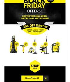 30% off Karcher this Black Friday (home and garden products)