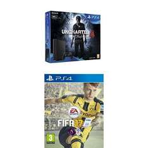 DUPE PS4 Slim 500GB + FIFA17 + Uncharted 4 - £199 - Amazon