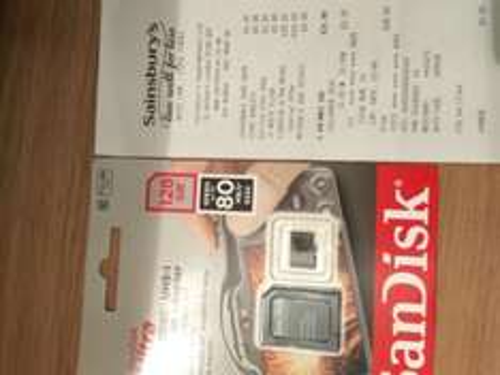 Scandisk Ultra UHS-I 128GB 80MB/s £25 @ Sainsburys