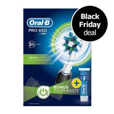Oral B Power Handle Toothbrush Pro 650 Cross Action - only £20 at Wilko - online and in store