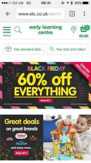 Upto 60% off everything on ELC