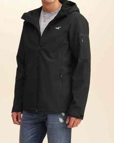 Softshell Hooded Jacket half price free delivery @ hollister - £44.50