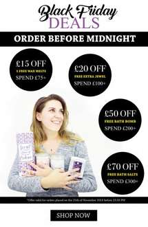 £15- £70 off and freebies on purchases over £75 at imperial candle