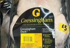 Gressingham Duck £5.00 at Morrisons instore