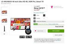 LG 49UH603V 49 inch Ultra HD 4K, HDR Pro, Smart TV only £419.99 at Very
