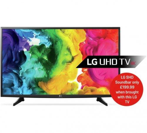 LG 49UH610V 49 Inch Ultra HD 4K Web OS Smart LED TV - £419 @ Argos