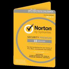 Norton Security Premium for 10 Devices product key code @ £24.99 from saverpoint