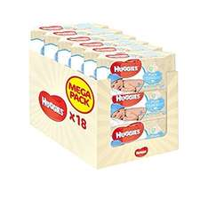 Huggies Pure Wipes 18 pack for £9 (or £7.65 with SnS with 5 or more items)