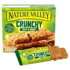 Nature Valley Crunchy Oats & Honey Cereal Bars (5 x 2 pack = 42g each pack  = 210g) was £2.34 now £1.00 @ Asda