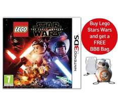 LEGO Star Wars: The Force Awakens 3DS Game + Free BB8 Bag @ Argos - £11.99