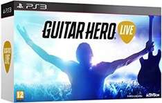 Guitar Hero Live + Guitar Controller (PS3) Amazon Prime Exclusive Deal £12.99 Delivered
