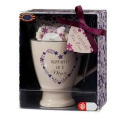 Mug with Hot Chocolate Mix Mini Marshmallows & Whisk for £2.70 at B&M