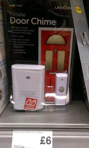 Uni-Com Portable Door Chime instore at Morrisons - £6