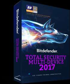 Bitdefender Total Security  Multi-Device (5) 2017 + 27.5% Quidco - £11.99