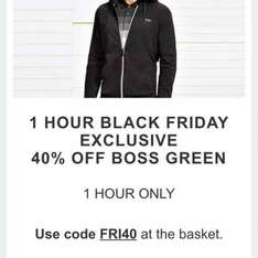 40% off HUGO BOSS GREEN 10minutes left to use code!! QUICK @ The Hut