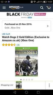 watch dogs 2 gold edition with season pass £49.99 @ amazon