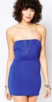 Manchester based label, Glamorous, Bandeau Dress, reduced from £30 to £4 at Asos