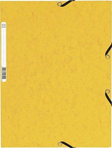 Exacompta 3 Flap Elasticated Binder - Glossy Yellow 95p Add On @ Amazon