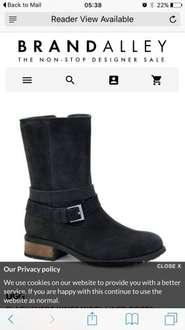 Upto 50% off uggs at brand alley