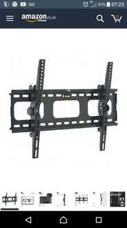 VonHaus  Tilt TV Wall bracket £9.99 Amazon Dispatched and sold by DOMU UK