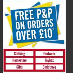 free p&p on all orders worth £10 at halfcost end 4/12/16