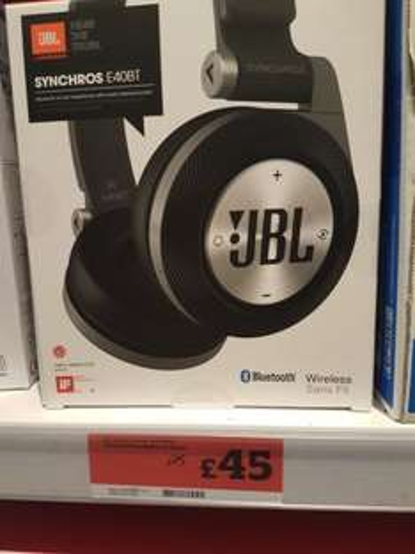 JBL E40BT Bluetooth headset £45 @ Sainsburys instore