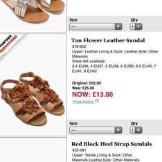 Next Leather flower sandals was £52 now £13 all sizes.