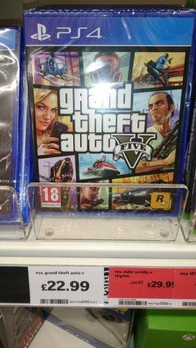 GTAV PS4/Xbox One instore @ Sainsbury's - £22.99