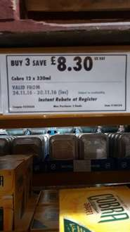 Cobra case 3 for 2 £19.92 @ Costco - Leicester