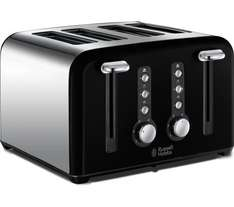 Russell Hobbs 4 Slice Toaster half price at Currys from £39.99 to £19.99 with 3 year guarantee @ Currys