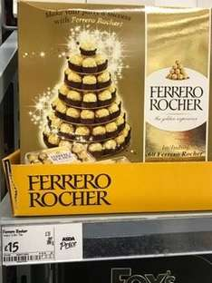 Ferrero Rocher 60 pieces plus pyramid / display stand £15 in store and online at ASDA