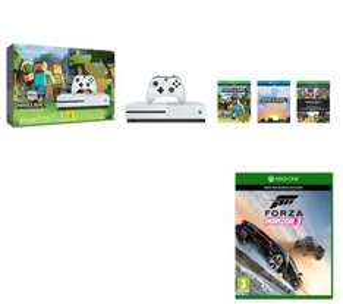 MICROSOFT Xbox One  500GB/GO, Minecraft Favourites & Forza Horizon 3 Bundle Or Minecraft Favourites &  1x Extra Controller Instead Of Horizon 3 £199.99 @ Curry's Save £74.99