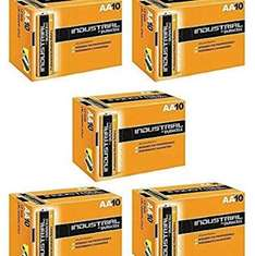50x AA Duracell Industrial batteries for £15.49 @ crazy4fones Amazon marketplace  (free delivery) or £14.50 for X50 aaa