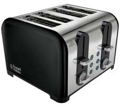 Russell Hobbs 4 Slice Toaster from £49.99 to £19.99 with 3 year guarantee @ Argos