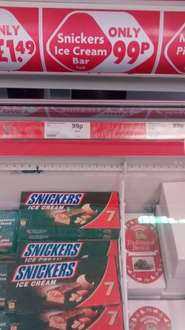 7 Snickers Ice Creams only 99p at Heron Foods