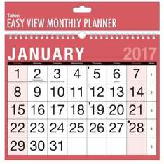 Easy To View Monthly Calendar £1.46 free P&P @ Amazon Dispatched from and sold by Curated-UK Ltd