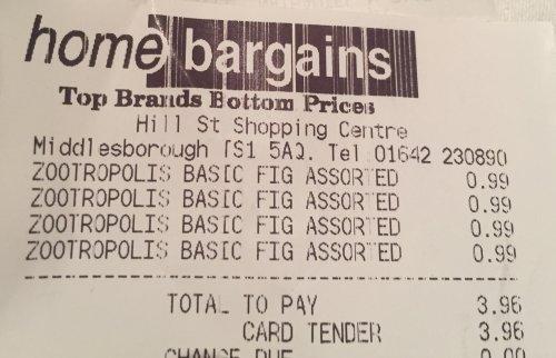 Zootropolis 2 Pack Figures - Home Bargains 99p - Instore