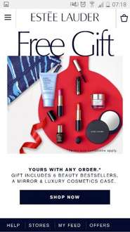 Free Estee Lauder set worth £90 with any purchase. plus 2 free samples. free delivery £12 @ Estee Lauder