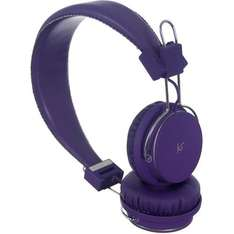 Kitsound Manhattan Over Ear Headphone with Mic - Purple £9.99 ebay  vodafonestore
